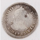 1785 Mexico 1 Real silver coin M KM-78.2a circulated