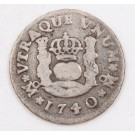 1740 Mexico 1/2 Real silver coin MF KM#65 circulated