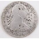 1781 Mexico 8 Reales silver coin FF KM#106.2  chop marks