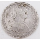 1791 Mexico 8 reales silver coin FM KM#109 a/EF