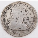 1785 Mexico 8 reales silver coin FM KM#106.2a chop marks