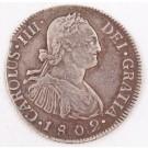 1802 Guatemala 2 Reales silver coin NG M KM#51 a/EF