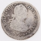 1794 Chile 1 Real silver coin Santiago-DA KM-58 circulated