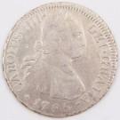 1795 Chile 2 Reales silver coin DA Santiago KM#59 a/EF