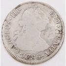 1786 Chile 2 Reales silver coin DA Santiago KM#30 circulated