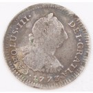 1773 Peru 1 Real silver coin Lima-JM KM-75 circulated