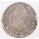 1778 Peru 1 Real silver coin Lima MJ KM#75 circulated slight bend