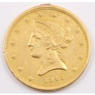 1842 $10 Liberty Gold Eagle Small Date EF