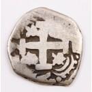 1761 Bolivia 2 Reales silver cob Potosi KM#43 circulated 6.03 grams