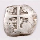 1767 Bolvia 1 Real silver cob Potosi KM#42 circulated 2.92 grams