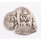 1727 Bolvia 1 Real silver cob Potosi KM#33 circulated 2.29 grams