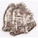1720 Bolivia 1 Real silver cob Y Potosi KM#28 4.51 grams VF+