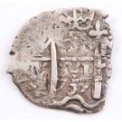 1737 Bolivia 1 Real silver cob M Potosi KM#28a 3.1 grams VF+
