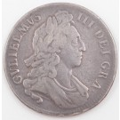 1696 Great Britain silver Crown 1st Bust circulated