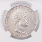 1839 Eagle P Italy Sardinia 5 Lire NGC NGC AU details cleaned