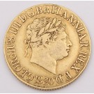 1820 Great Britain gold Sovereign closed 2 alignment Spink 3785c  VF