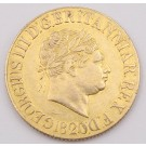 1820 Great Britain gold Sovereign open 2 alignment Spink 3785c EF