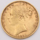 1861 Great Britain gold Sovereign a/EF