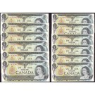 12x 1973 Canada $1 dollar replacement notes UNC63 EPQ