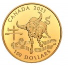 2021 $150 Canada 18 Karat Gold Coin – Year of the Ox