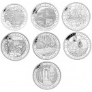 2012 - 2013 Canadian $20 Group of Seven Full Set 1 oz Fine Silver Coins