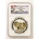 2014 P Australia S$1 999 Koala 1 oz NGC MS 70 Gold Gilt Coin Early Releases