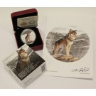 2015 $20 Alpha Wolf 1oz 9999 Silver Proof Coin