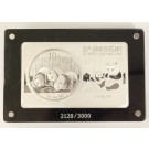 2013 China Panda .999 Fine Silver 3oz Proof Coin Bar 30th Anniversary Set