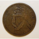 1830 Irish halfpenny Hibernicus Harp token 7.9 grams 28.28mm