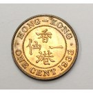 1933 Hong Kong ONE CENT Choice Uncirculated MS63