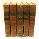 The Works of Francis Bacon 1765 5 Volume Leather Bound Book Set