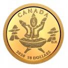 2020 Canada $10 1/20 Gold Coin An Inuk and A Qulliq 9999 Pure Gold