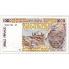 1996 West African States 1,000 Francs