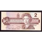 1986 Canada $2 banknote Thiessen UNC63