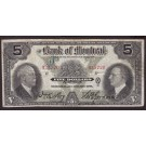 1931 Bank of Montreal $5 banknote 935720 VF20