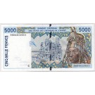 1996 West African States 5,000 Francs