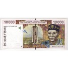 1995 West African States 10,000 Francs