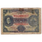 1921 Portugal Mozambique 20 Escudos Banknote