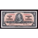 1937 Canada $2 dollar banknote Coyne Towers Choice UNC64