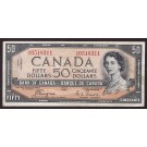 1954 Canada $50 devils face banknote Coyne Towers A/H0518311 F