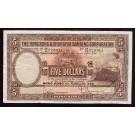 1959 Hong Kong Shanghai bank HSBC $5 banknote VF25