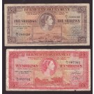 1957 Bermuda Five and Ten Shillings banknotes VG