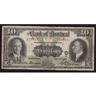 1931 Bank of Montreal $10 banknote C 129343 F12