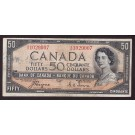 1954 Canada $50 devils face banknote Coyne Towers A/H1029007 a/VF