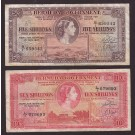 1957 Bermuda Five and Ten Shillings banknotes
