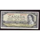 1954 Canada $20 banknote Beattie Rasminsky