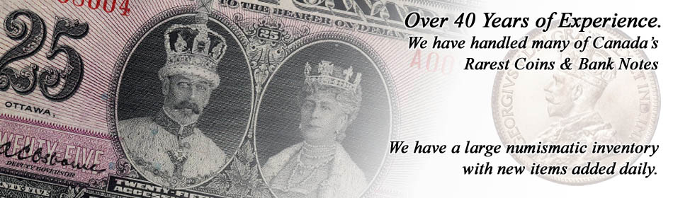 Vancouver Coins - Professional Dealers of Coins, Bank Notes